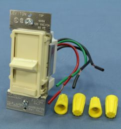 shop leviton almond decora lighted slide dimmer switch preset wiring a leviton dimmer switch on cord [ 3456 x 3456 Pixel ]