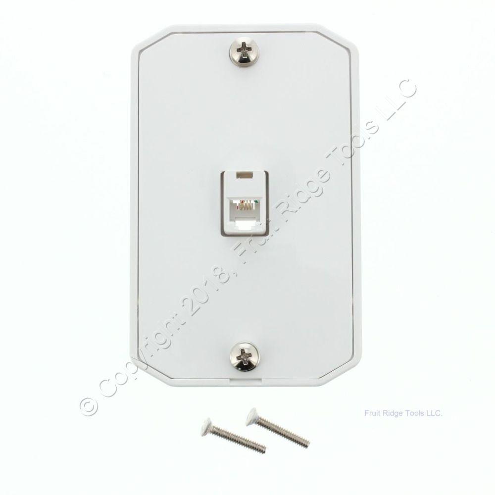 medium resolution of leviton white wall phone mounting plate telephone jack c0253 w