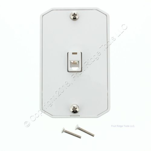 small resolution of leviton white wall phone mounting plate telephone jack c0253 w