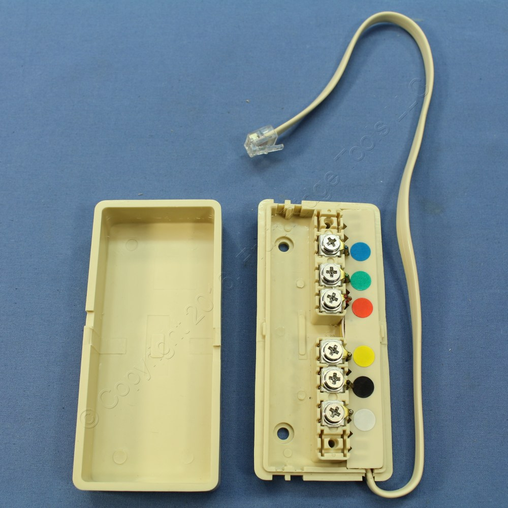 medium resolution of new leviton ivory phone telephone wiring junction box 6 conductor 6 telephone wiring box telephone wiring box