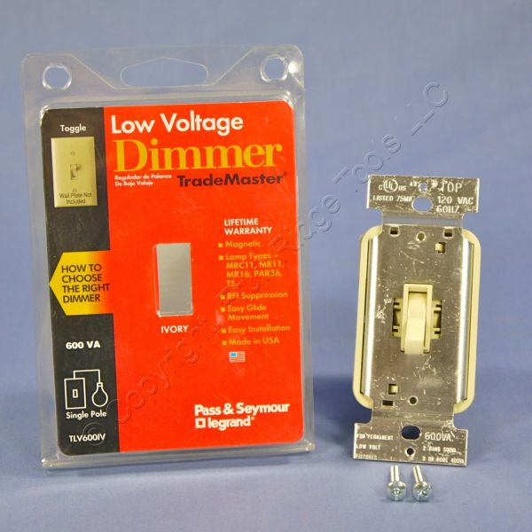 Pass & Seymour Ivory Toggle Dimmer Switch Voltage