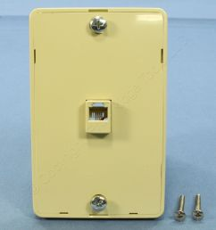 pass seymour ivory rj 11 wall mount phone jack 630a telephone outlet wmte14 i [ 3456 x 3456 Pixel ]