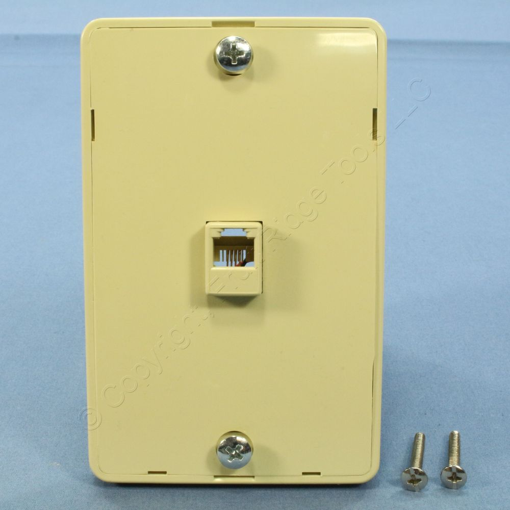 medium resolution of pass seymour ivory rj 11 wall mount phone jack 630a telephone outlet wmte14 i