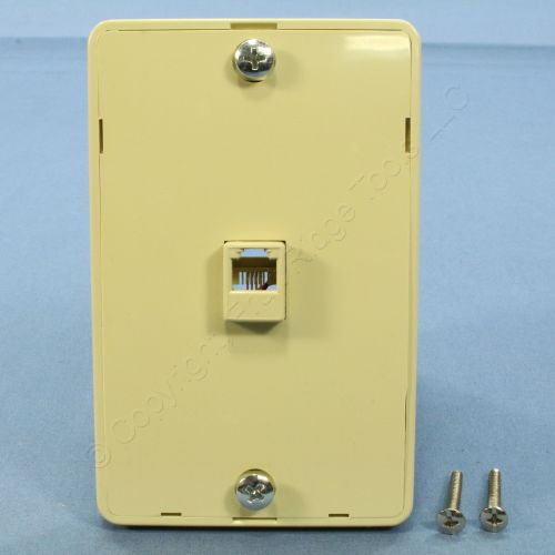 small resolution of pass seymour ivory rj 11 wall mount phone jack 630a telephone outlet wmte14 i