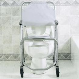 invacare shower chair grey damask covers mobile commode commodes with image number 19343