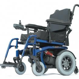 wheelchair base blue leather chair quickie s 646 full feature rehab power image of
