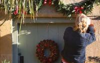 Christmas decorations inside and out: Front door - Telegraph