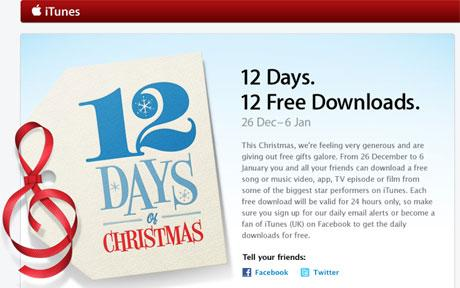 12 gifts of christmas apple app
