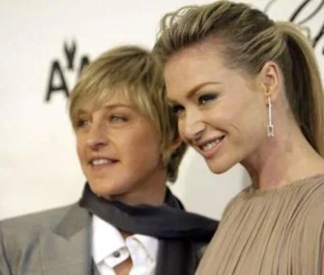 Ellen Degeneres And Her Wife Portia De Rossi Who Nine Years Before Their Wedding Was