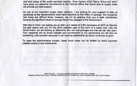 Serco feels the fall-out of 'cash for Coalition cuts