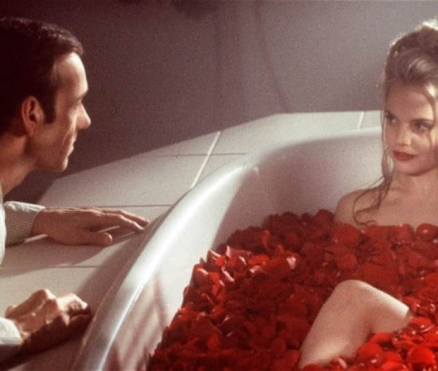 Lester Burnham Kevin Spacey Is Intrigued By Angela Mena Suvari In A