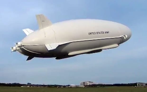Video US Army tests new blimplike military airship  Telegraph