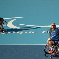 Wheelchair Quad Chair With Storage Paralympics 2012 Peter Norfolk And Andy Lapthorne Claim Tennis Of Great Britain Teammate Compete In The
