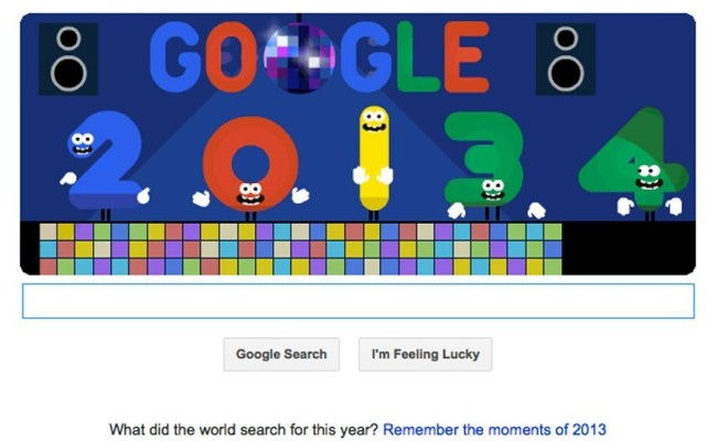 New Year S Eve 2013 Celebrated With Disco Flavoured Google