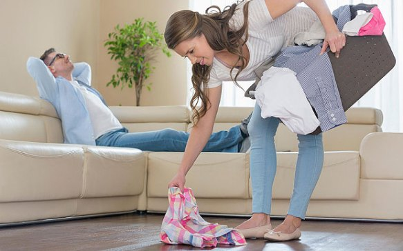 Karwa chauth doing household chores
