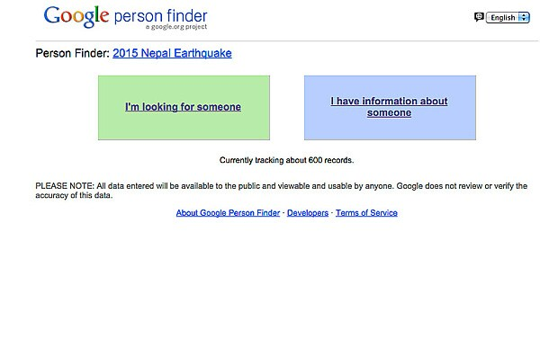 google person finder tool