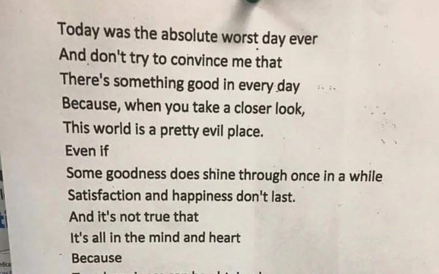Hidden Meaning Behind Poem Will Brighten Your Day Telegraph