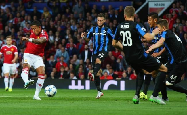 Manchester United Vs Club Brugge Champions League As It