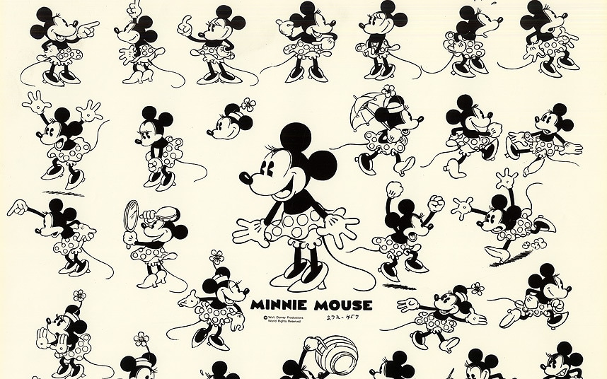 minnie mouse through the
