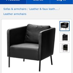 Ikea Sater Sofa Uk Sofascore Com Tennis Confusion Over Leather Sofas That Are Actually Made From The Ekero Armchair Appears Under Armchairs Section Photo