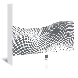 Americanflat Grey Ovals on White 2 by Armand Graphic Art