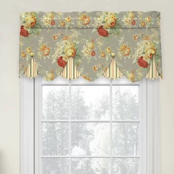 Waverly Sanctuary Rose PeekaBoo 52 Curtain Valance