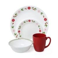 Corelle Livingware Spring Pink 16 Piece Dinnerware Set ...