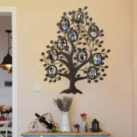 AdecoTrading 10 Opening Decorative Family Tree Wall