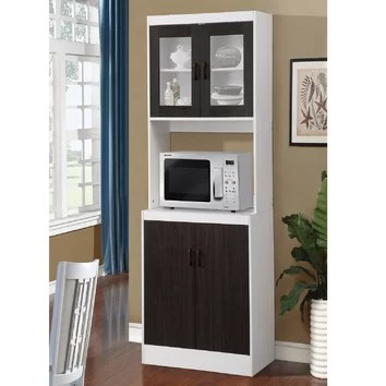 August Grove Elva Kitchen Cabinet in White  Reviews  Wayfair
