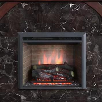 Puraflame 33 Black 7501500W Western Wall Mount Electric Fireplace Insert  Reviews  Wayfair