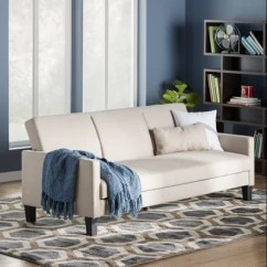 Newport Sofa Convertible Bed Decorating Around A Tan Leather $249.81 Sleeper Futon With Soft Textured ...