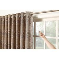 Genesis Extra Wide Grommet Patio Door Single Curtain Panel ...