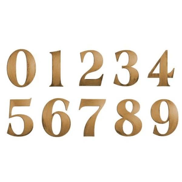 Numbers Wall Decor