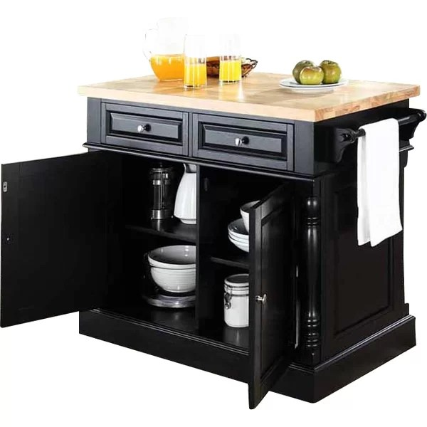3Piece Lewis Kitchen Island Set  Reviews  Joss  Main