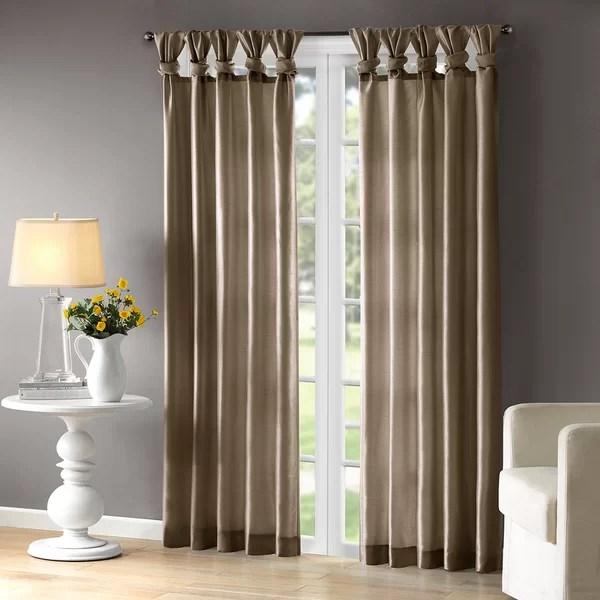 wayfair kitchen stools brushes catelynn sheer twist tab single curtain panel & reviews ...