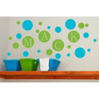 Alphabet Garden Designs Personalized Dots Wall Decal ...