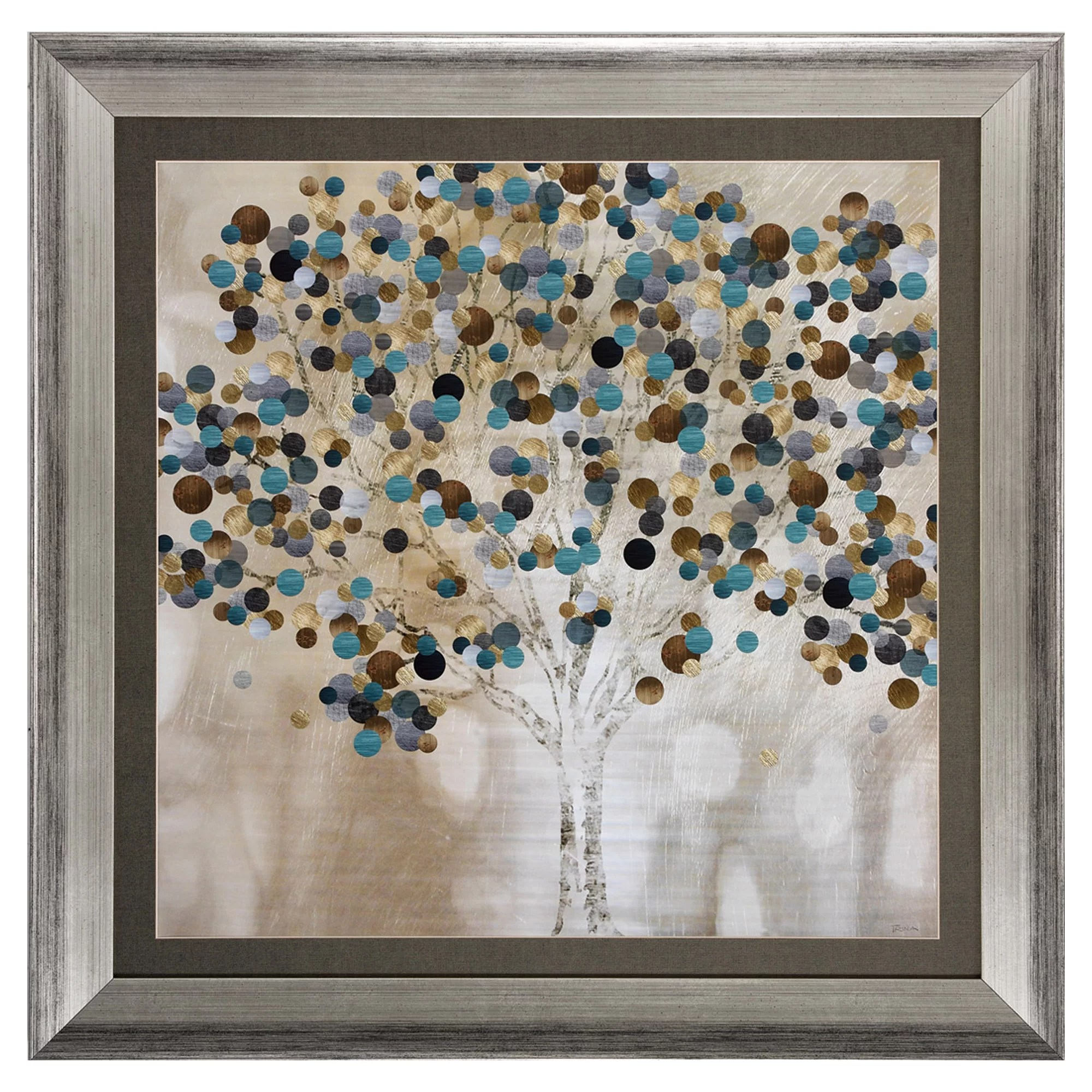 Propac Images 'A Teal Tree' Framed Graphic Art & Reviews