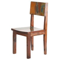 PoliVaz Reclaimed Boat Wood Side Dining Chair & Reviews ...