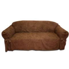 Faux Suede Sofa Cover Unique Sectional Sofas Textiles Plus Inc Slipcover And Reviews