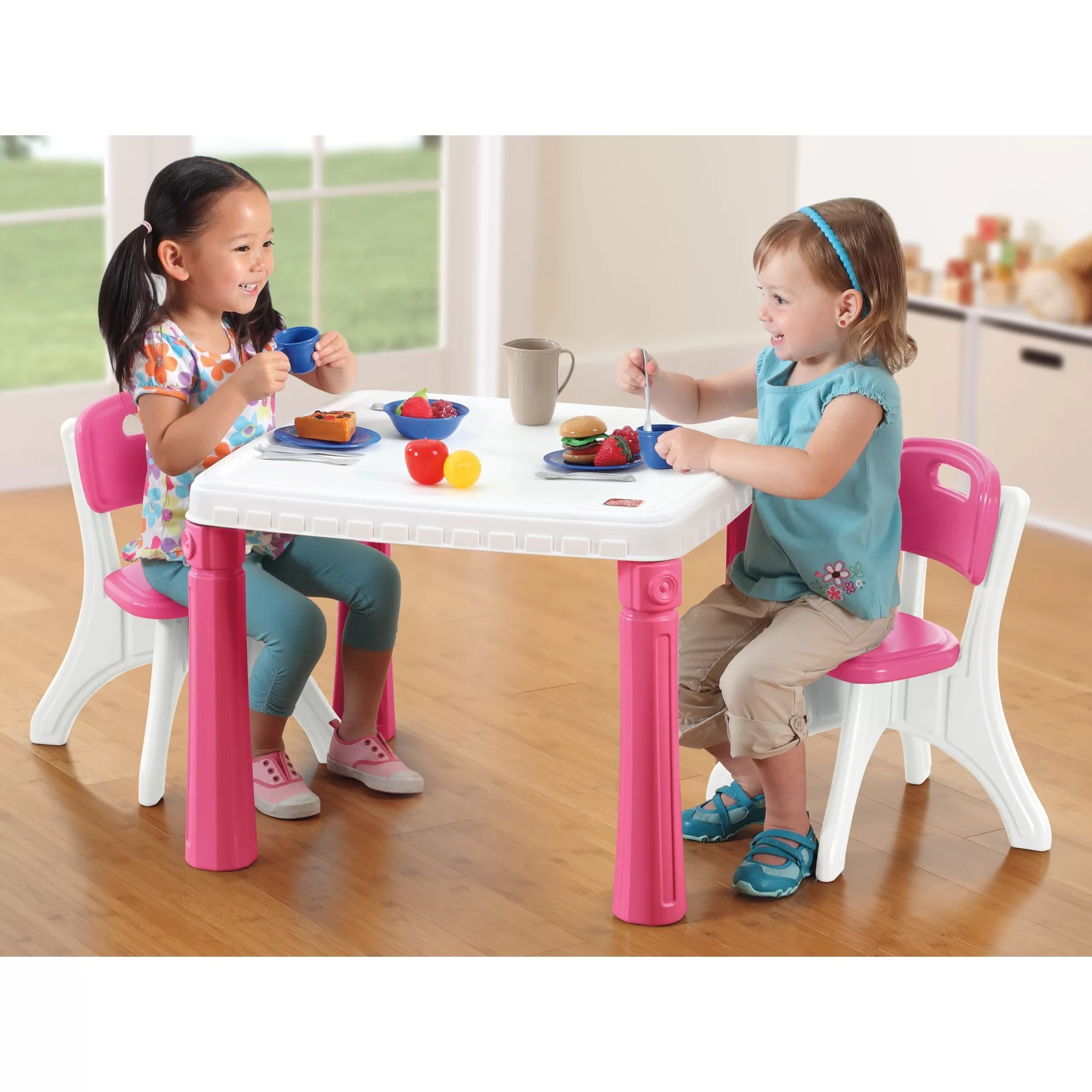 Step2 Table And Chairs Set Step2 Lifestyle Kitchen Kids Table And Chair Set And Reviews