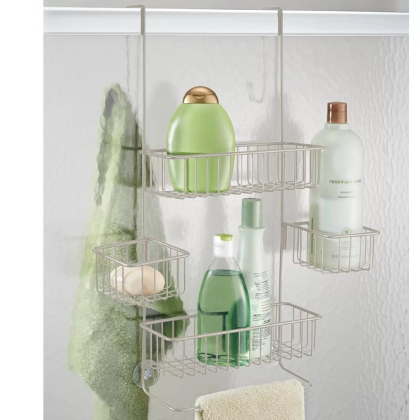 InterDesign Metalo Bathroom Over Door Shower Caddy