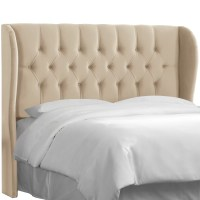 Skyline Furniture Tufted Upholstered Wingback Headboard ...