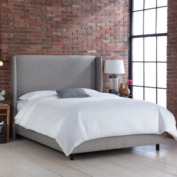 Skyline Furniture Wingback Upholstered Bed