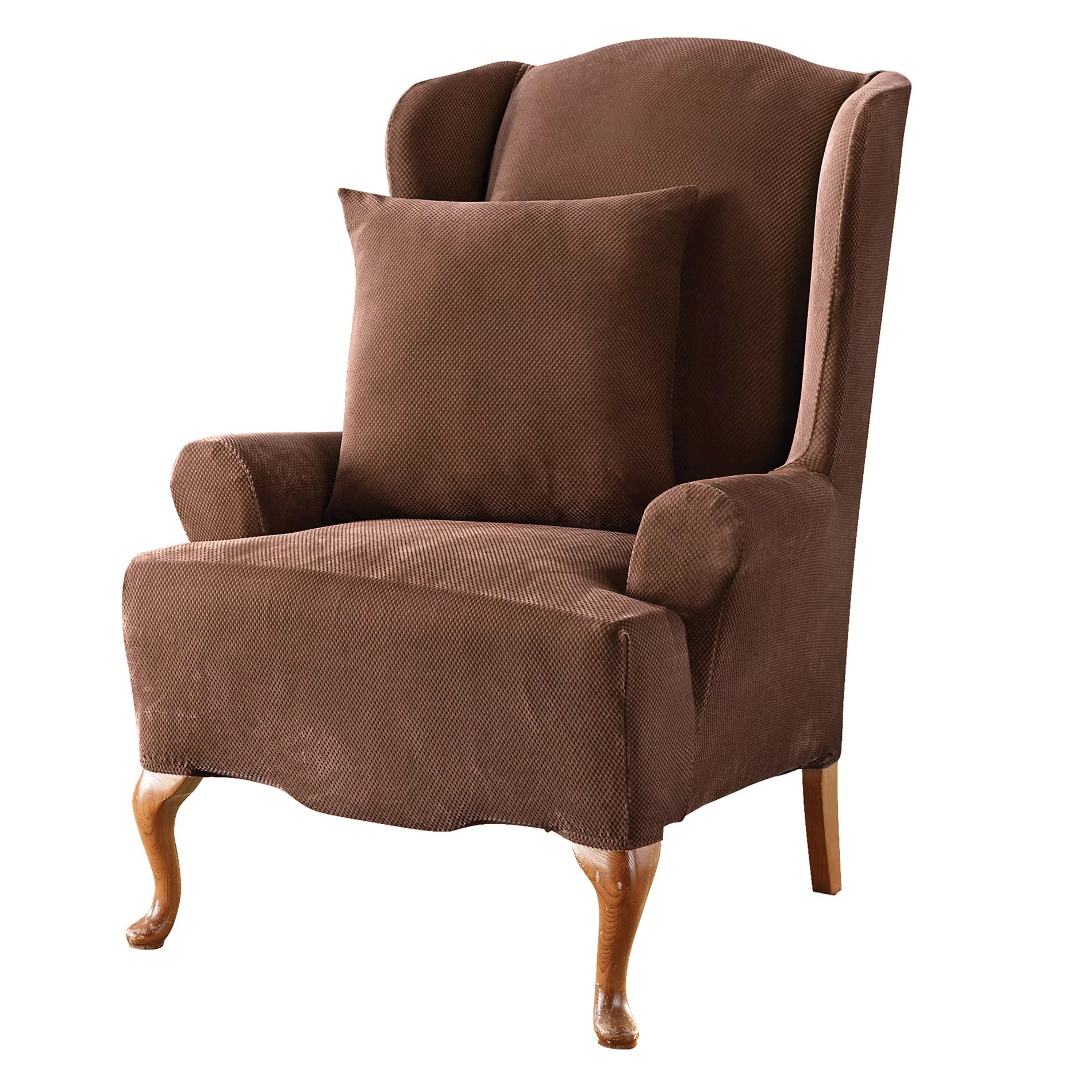 Sure Fit Stretch Pique Wing Chair Slipcover  Reviews