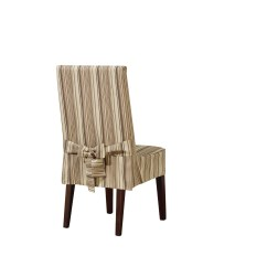 Striped Chair Covers Dining Rooms Large Living Room Sure Fit Harbor Stripe Slipcover And Reviews