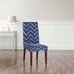 Parson Chair Covers Walmart Folding Hinge Point Sure Fit Stretch Chevron Dining Slipcover And Reviews