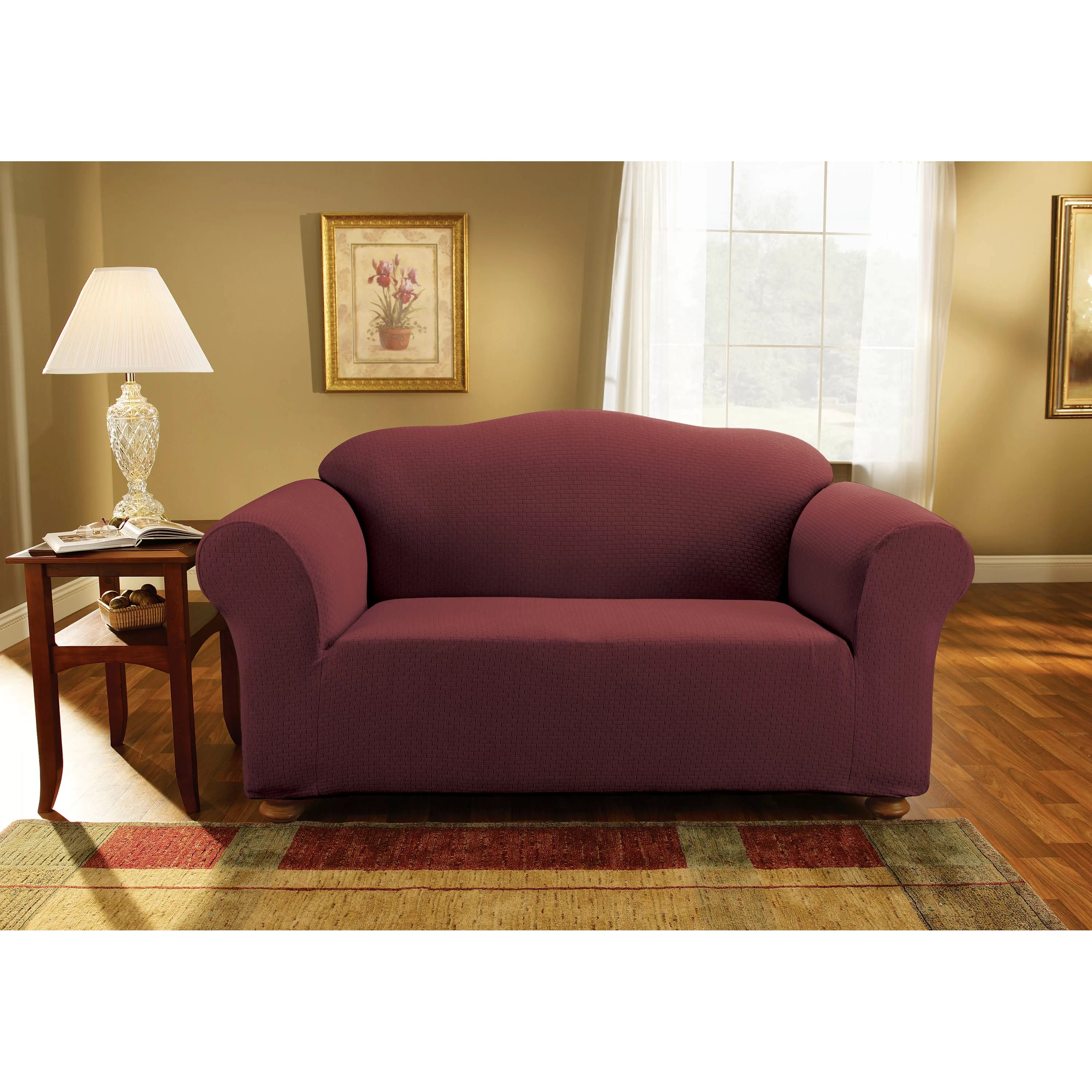 stretch morgan 1 piece sofa furniture cover affordable sectional sleeper sure fit simple subway loveseat slipcover