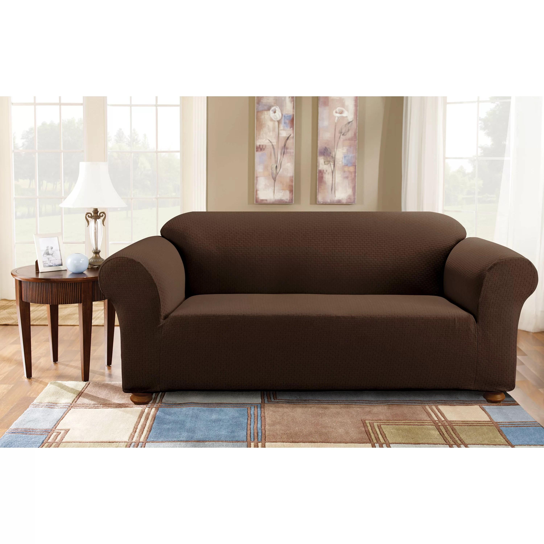 Sure Fit Simple Stretch Subway Sofa Box Cushion Slipcover  Reviews  Wayfair