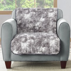 Faux Fur Chair Cover 400 Lb Capacity Folding Sure Fit Quilted Armchair Slipcover Wayfair