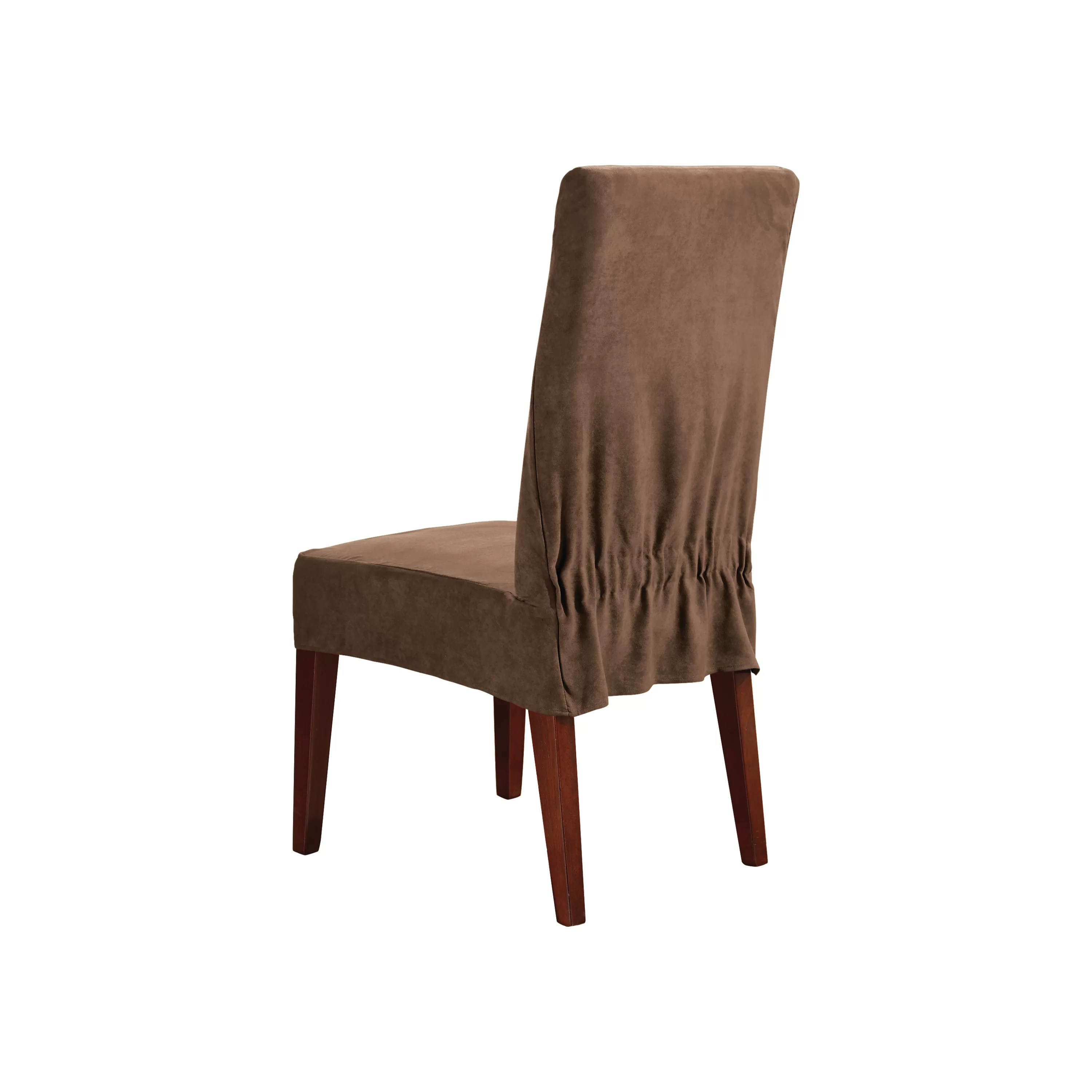 slipcover for dining chair table with chairs toddlers sure fit soft suede and reviews wayfair